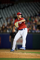 Buffalo Bisons relief pitcher Justin Shafer (33) delivers a pitch during a game against the Syracuse Chiefs on July 6, 2018 at Coca-Cola Field in Buffalo, New York.  Buffalo defeated Syracuse 6-4.  (Mike Janes/Four Seam Images)