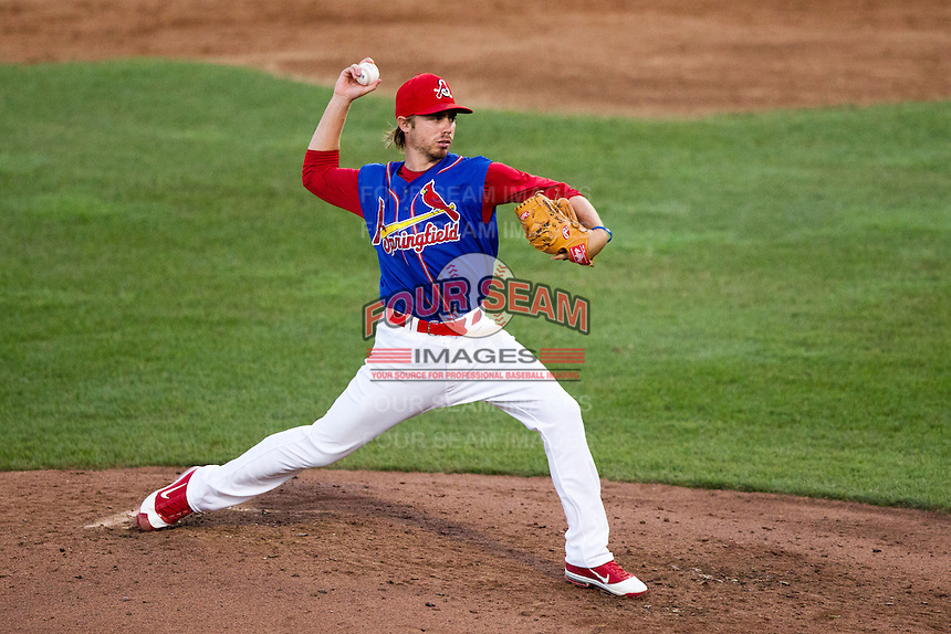 Scott Schneider (29) of the Springfield Cardinals delivers a pitch during a game against the Corpus Christi Hooks at Hammons Field on August 13, 2011 in Springfield, Missouri. Springfield defeated Corpus Christi 8-7. (David Welker / Four Seam Images)