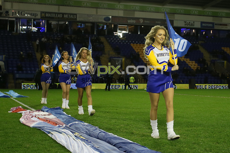 Picture by Paul Currie/SWpix.com - 01/02/2018 - Rugby League - Betfred Super League - Warrington Wolves v Leeds Rhinos - Halliwell Jones Stadium, Warrington, England - The Wirettes cheerleaders