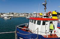 Blick auf  St. Peter Port,Fähre nach Herm, Insel Guernsey, Kanalinseln