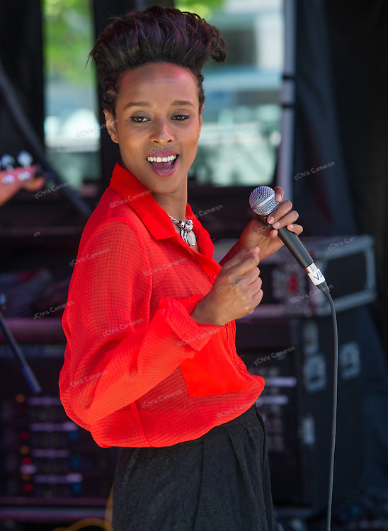 Ester Rada at Robson Square June 22, 2014 TD Vancouver International Jazz Festival