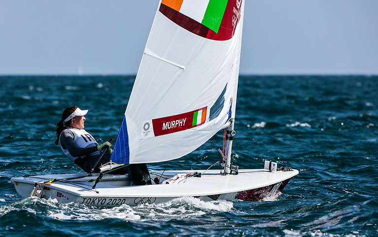 Ireland's Annalise Murphy competing in the first races of the Tokyo Sailing Competition in the Laser Radial class