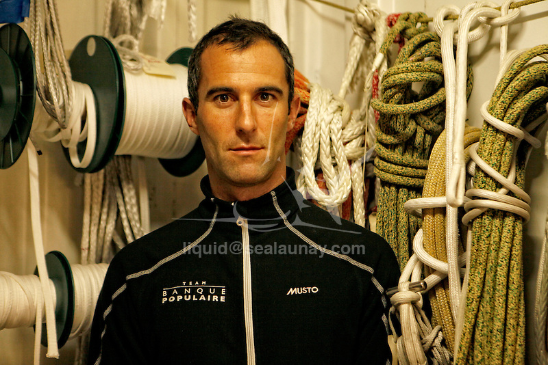 A day with Armel Le Cléac'h, skipper from the Banque Populaire Sailing Team.