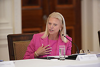 Ginni Rometty, CEO, IBM, makes remarks at the American Workforce Policy Advisory Board Meeting at the White House in Washington, DC on Friday, June 26, 2020. <br /> Credit: Chris Kleponis / Pool via CNP/AdMedia
