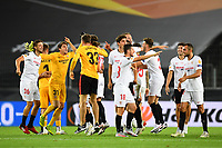 21st August 2020, Rheinenergiestadion, Cologne, Germany; Europa League Cup final Sevilla versus Inter Milan;  Players of Sevilla FC celebrate on pitch following the UEFA Europa League Final