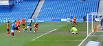 21.02.2021 Rangers v Dundee Utd: Benjamin Siegrist beaten by Ryan Kent's shot for goal no 2