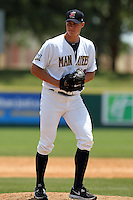 Brevard County Manatees pitcher Jed Bradley #37 poses for a photo after a game against the Clearwater Threshers at Space Coast Stadium on April 30, 2012 in Viera, Florida.  Clearwater defeated Brevard County 5-1.  (Mike Janes/Four Seam Images)