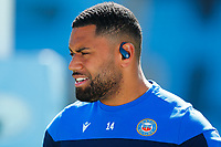 25th April 2021; Ricoh Arena, Coventry, West Midlands, England; English Premiership Rugby, Wasps versus Bath Rugby; Joe Cokanasiga of Bath Rugby during the pre-match warm-up