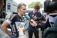 post-race interviews for Jan Bakelants (BEL/OPQS)<br /> <br /> Liège-Bastogne-Liège 2014