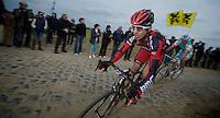 Paris-Roubaix 2012 ..Taylor Phinney in his first elite Roubaix