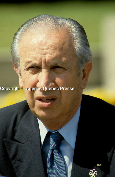 July 1986 File Photo - Juan-Antonio Samaranch in Montreal for the 10th anniversary of the Olympics.