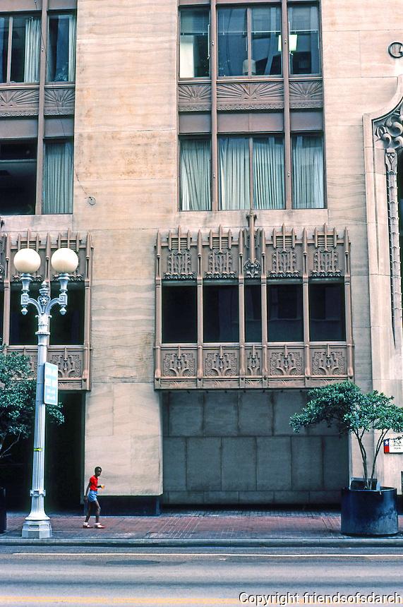 Houston: Gulf Building window detail.
