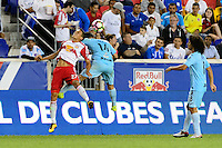 Harrison, NJ - Thursday Sept. 15, 2016: Sean Davis, Herbert Sosa during a CONCACAF Champions League match between the New York Red Bulls and Alianza FC at Red Bull Arena.
