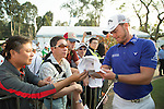 Danny Willett of England signs autograph during the 58th UBS Hong Kong Golf Open as part of the European Tour on 08 December 2016, at the Hong Kong Golf Club, Fanling, Hong Kong, China. Photo by Vivek Prakash / Power Sport Images