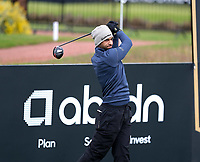 7th July 2021; North Berwick, East Lothian, Scotland;  Aaron Rai England on the 3rd tee during the Celebrity Pro-Am at the abrdn Scottish Open at The Renaissance Club, North Berwick, Scotland.
