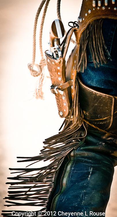 Cowboy doing rope tricks. Old Tucson Movie Studio - Arizona