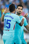 Luis Alberto Suarez Diaz (r) of FC Barcelona celebrates with Diego Rico Salguero of CD Leganes during the La Liga 2017-18 match between CD Leganes vs FC Barcelona at Estadio Municipal Butarque on November 18 2017 in Leganes, Spain. Photo by Diego Gonzalez / Power Sport Images