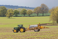 18-5-2021 Applying liquid nitrogen to Spring drilled cereals in Rutland <br /> ©Tim Scrivener Photographer 07850 303986<br />      ....Covering Agriculture In The UK....