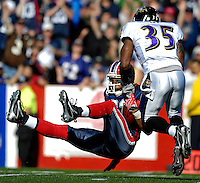 21 October 2007: Buffalo Bills wide receiver Lee Evans pulls in a 54 yard pass in the 3rd quarter against the Baltimore Ravens at Ralph Wilson Stadium in Orchard Park, NY. The Bills defeated the Ravens 19-14 in front of 70,727 fans marking their second win of the 2007 season...Mandatory Photo Credit: Ed Wolfstein Photo