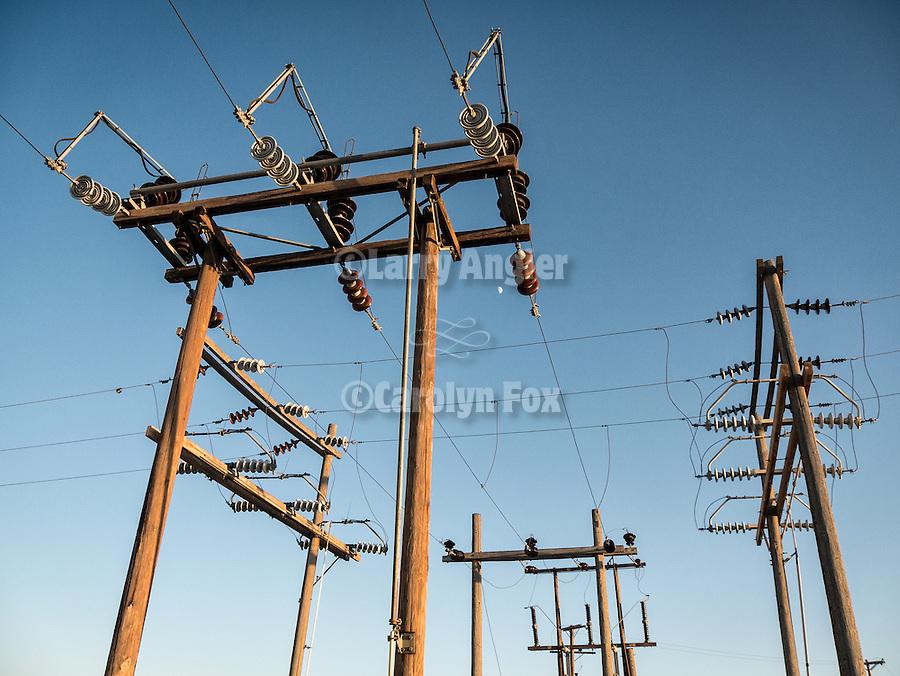 Power line junction, Alkali, Nev.
