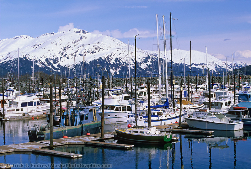 Cordova boat harbor, Prince William Sound, Alaska.