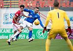 Hamilton Accies v St Johnstone…01.09.18…   New Douglas Park     SPFL<br />Tony Watt's shot is saved by Gary Woods<br />Picture by Graeme Hart. <br />Copyright Perthshire Picture Agency<br />Tel: 01738 623350  Mobile: 07990 594431