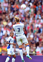 August 06, 2012..France's Corine Franco during Semi Final match at the Wembley Stadium on day ten in Wembley, England. Japan defeats France 2-1 to reach Women's Finals of the 2012 London Olympics.