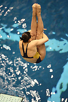 University of Michigan Diver competing in the 3 Meter Preliminaries at the 2008 Women's Big Ten Swimming and Diving Championships, held as the Ohio State University's McCorkle Aquatic Center. Feb. 21st-23rd, 2008. Three Meter Prelims...