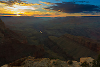 Grand Canyon Landscape At Sunset, Arizona