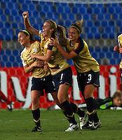 USA celebrate the goal of Courtney Verloo..FIFA U17 Women's World Cup, Semi Final, Germany v USA, QEII Stadium, Christchurch, New Zealand, Thursday 13 November 2008. Photo: Renee McKay/PHOTOSPORT