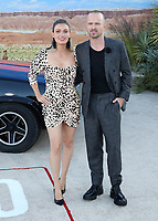 "WESTWOOD, CA - OCT 7:  Lauren Parsekian and Aaron Paul at the premiere Of Netflix's ""El Camino: A Breaking Bad Movie"" at the Regency Village Theatre on October 7. 2019 in Westwood, California. (Photo by Xavier Collin/PictureGroup)"