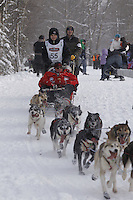 Josh Cadzow Saturday, March 3, 2012  Ceremonial Start of Iditarod 2012 in Anchorage, Alaska.