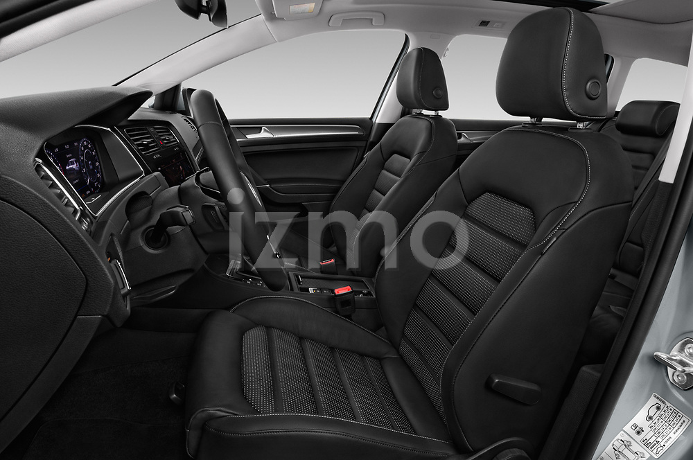 Front seat view of 2017 Volkswagen Golf Alltrack Base 5 Door Wagon front seat car photos
