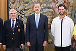 King Felipe VI of Spain in audience with a representation of the Spanish Real Federation of Golf and the spanish players who will participate in 'Mutuactivos Open de España Masculino de Golf' . October 01, 2019.. (ALTERPHOTOS/ Francis Gonzalez)