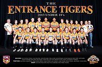 The Entrance Tigers pose for their 2013 Team Photo in the Arthur Lake Room at The Entrance Leagues Club in Bateau Bay, NSW Australia (Photo by Paul Barkley/LookPro)