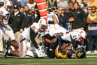 2 December 2006: Pannel Egboh and Trevor Hooper during Stanford's 26-17 loss to Cal in the 109th Big Game at Memorial Stadium in Berkeley, CA.