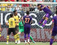 Charlotte, North Carolina - July 22, 2018: Bank of America Stadium, Liverpool vs Borussia Dortmund, International Champions Cup.