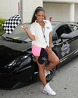 MIAMI, FL - APRIL 30: Singer/Actress Christina Milian participates in a Rally for Kids with Cancer Scavenger Cup.  Christine Marié Flores (born September 26, 1981),  better known by her stage name Christina Milian (pronounced /mɪliˈɑːn/) is an American recording artist, actress, dancer and model. Born in Jersey City, New Jersey, Milian moved to Los Angeles when she was 13 years old, desiring to be an actress. By the age of 17, Milian had begun writing songs to help obtain a recording contract. Milian has released three studio albums, and is currently working on fourth studio album due for release in 2011.  on April 30, 2011 in Miami, Florida<br /> <br /> <br /> People:  Christina Milian