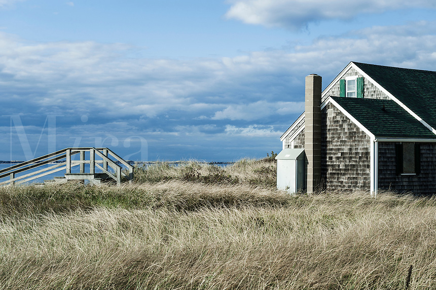 Waterfront beach cottage, Truro, Cape Cod, MA, Massachusetts, USA