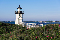 Brant Point Lighthouse on Nantucket Island, Massachusetts, USA.