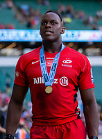 Saracens' Maro Itoje<br /> <br /> Photographer Bob Bradford/CameraSport<br /> <br /> Gallagher Premiership Final - Exeter Chiefs v Saracens - Saturday 1st June  2018 - Twickenham Stadium - London<br /> <br /> World Copyright © 2019 CameraSport. All rights reserved. 43 Linden Ave. Countesthorpe. Leicester. England. LE8 5PG - Tel: +44 (0) 116 277 4147 - admin@camerasport.com - www.camerasport.com