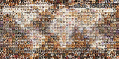 Kim, ANIMALS, REALISTISCHE TIERE, ANIMALES REALISTICOS, fondless, photos,+Montage of 800 Cats and Dogs head shots, in a mosaic of squares, forming a map of the world,++++,GBJBWP45275,#a#, EVERYDAY