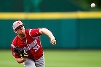 Joe Bircher (31) of the Bradley Braves delivers a pitch during a game against the Missouri State Bears on May 13, 2011 at Hammons Field in Springfield, Missouri.  Photo By David Welker/Four Seam Images