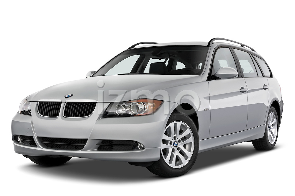 Low aggressive front three quarter view of a 2005 - 2008 BMW 3-Series 328i Wagon.