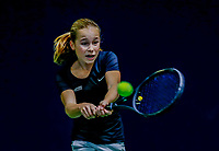 Hilversum, Netherlands, December 3, 2017, Winter Youth Circuit Masters, 12,14,and 16, years, Sarah van Emst (NED)<br /> Photo: Tennisimages/Henk Koster