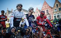 3 former winners (7 Ronde wins among them) on the start line: Fabian Cancellara (SUI/Trek-Segafredo), Tom Boonen (BEL/Etixx-QuickStep) & Alexander Kristoff (NOR/Katusha)<br /> <br /> 100th Ronde van Vlaanderen 2016