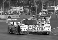 The #61 Jaguar XJR-10 of Jan Lammers races through a turn during the IMSA GTP/Lights race at the Florida State Fairgrounds on the way to a 9th place finish in Tampa, FL, October 1, 1989. (Photo by Brian Cleary/www.bcpix.com)