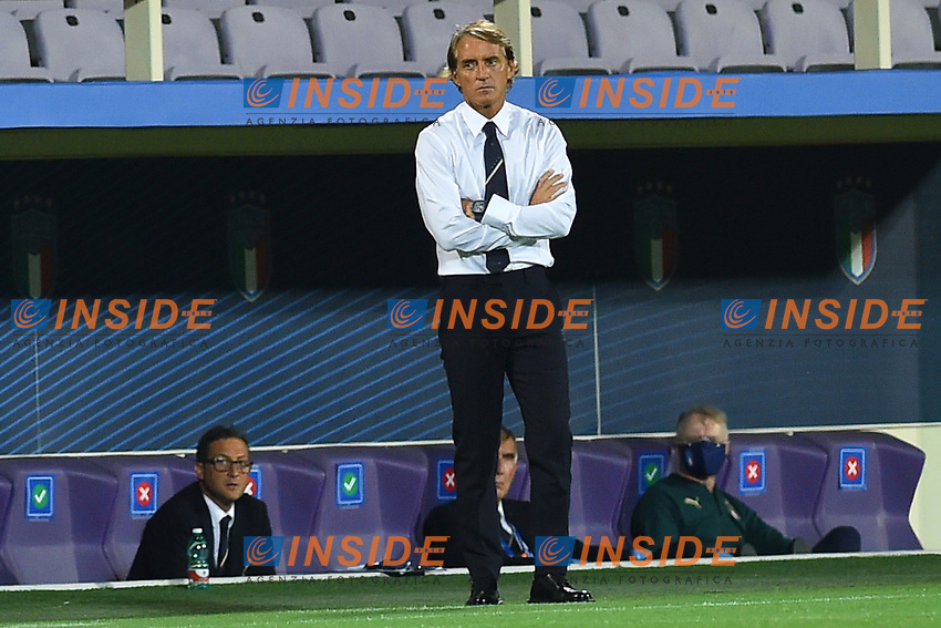 Roberto Mancini coach of Italy during the Uefa Nation League Group Stage A1 football match between Italy and Bosnia at Artemio Franchi Stadium in Firenze (Italy), September, 4, 2020. Photo Massimo Insabato / Insidefoto