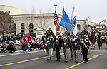 The Carson City Sheriff's Office and Fire Department Honor Guard participate in the annual Nevada Day parade in Carson City, Nev. on Saturday, Oct. 29, 2016. <br />Photo by Cathleen Allison