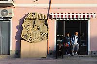Bäckerei in Villamar, Provinz Medio-Campidano, Inner - Sardinien, Italien